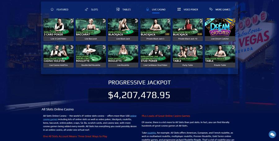 All Slots Casino Live Dealer