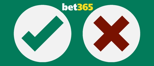 Bet365 does have a lot more positive sides than negative.