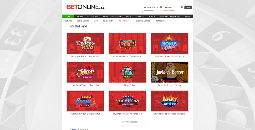 BetOnline Casino Review - Promotions Galore & Live Dealer Options