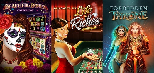More than 280 gaming titles await you at Casino Action