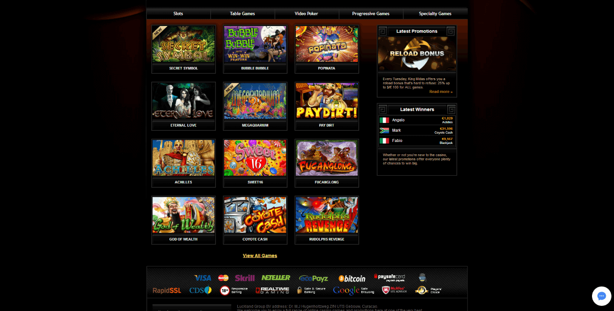 Casino Midas Games