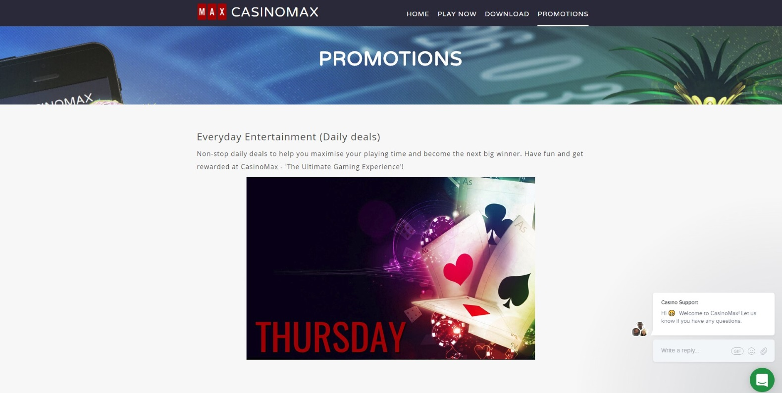 CasinoMax Casino - Find All Promotions