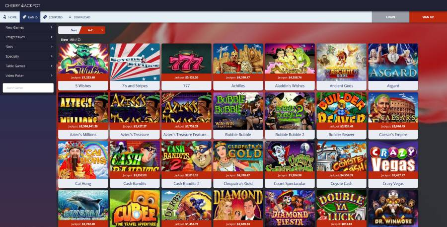Cherry Jackpot Casino - the Most Popular Type of Casino Games