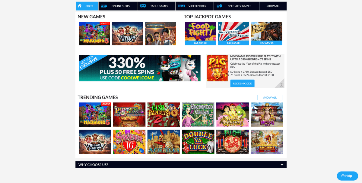 Coolcat Casino Games