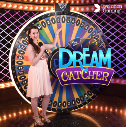 The live dealer section of Slots Magic features Dream Catcher.