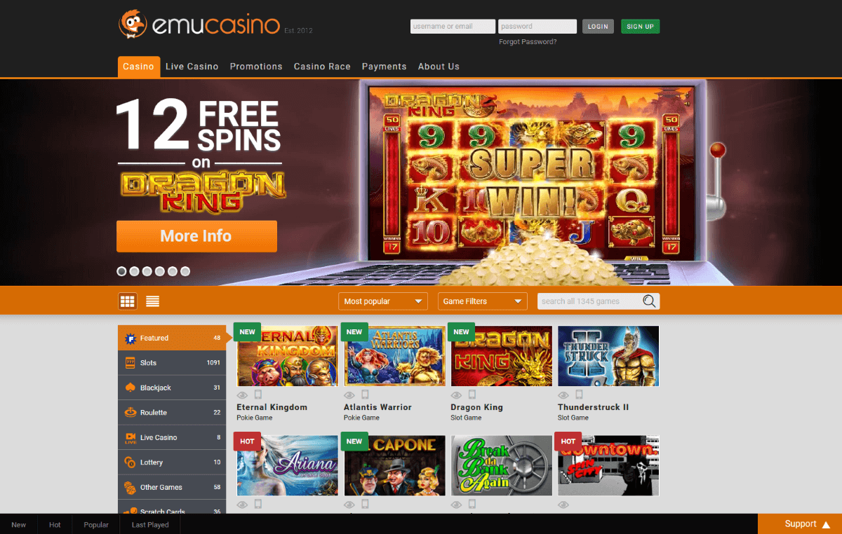 Emu Casino App Download