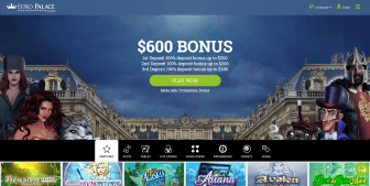Euro Palace Casino homepage