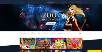 The homepage at Exclusive Casino