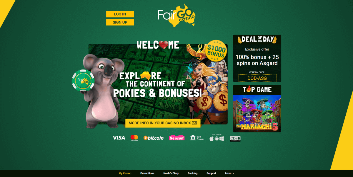 FairGo Casino homepage
