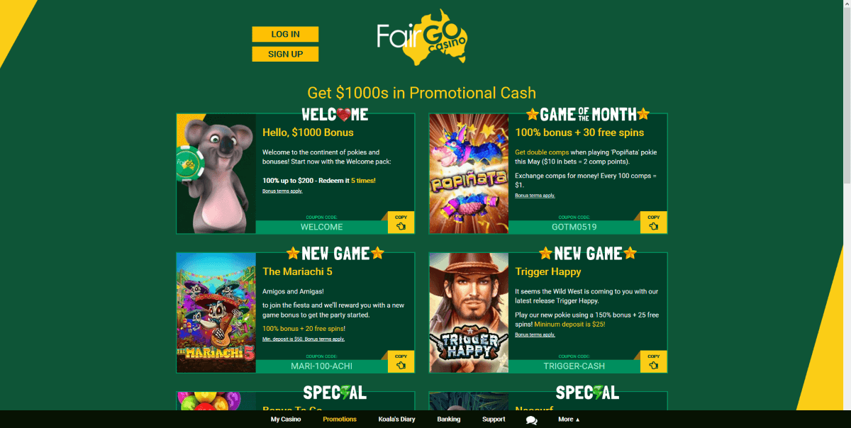 FairGo Casino Promotions