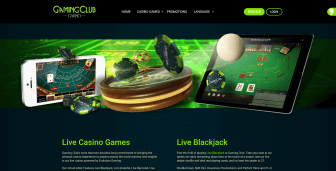 Live dealer section at Gaming Club Casino