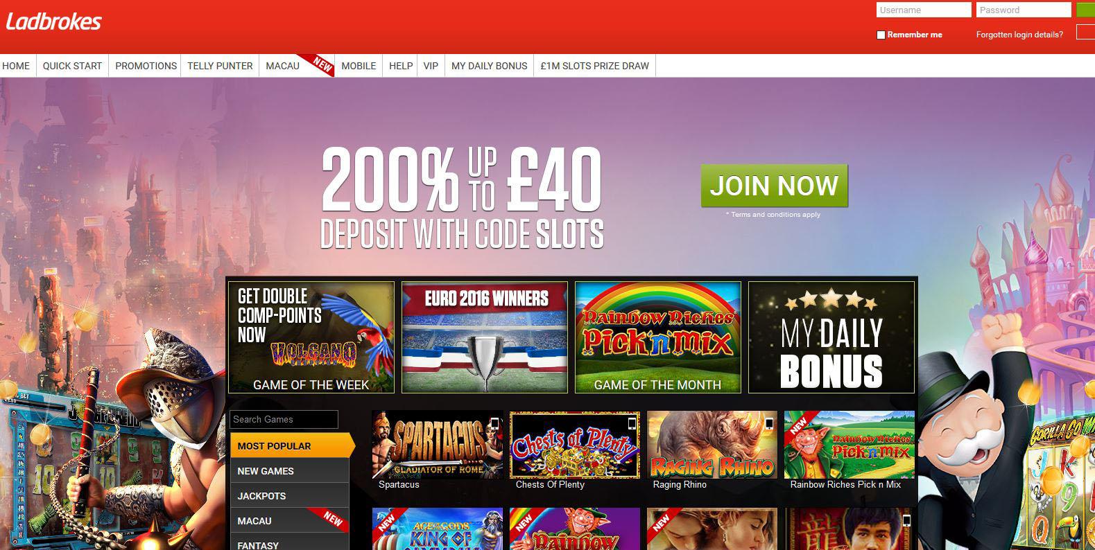 Online Slots Ladbrokes