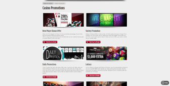 Ongoing promo deals at Palace Of Chance Casino
