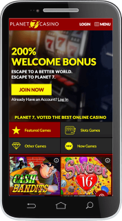 Planet 7 Casino site is well optimized for mobile use