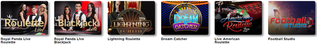 Royal Panda delivers a wide range of live dealer games.
