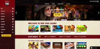 The landing page at RedStag