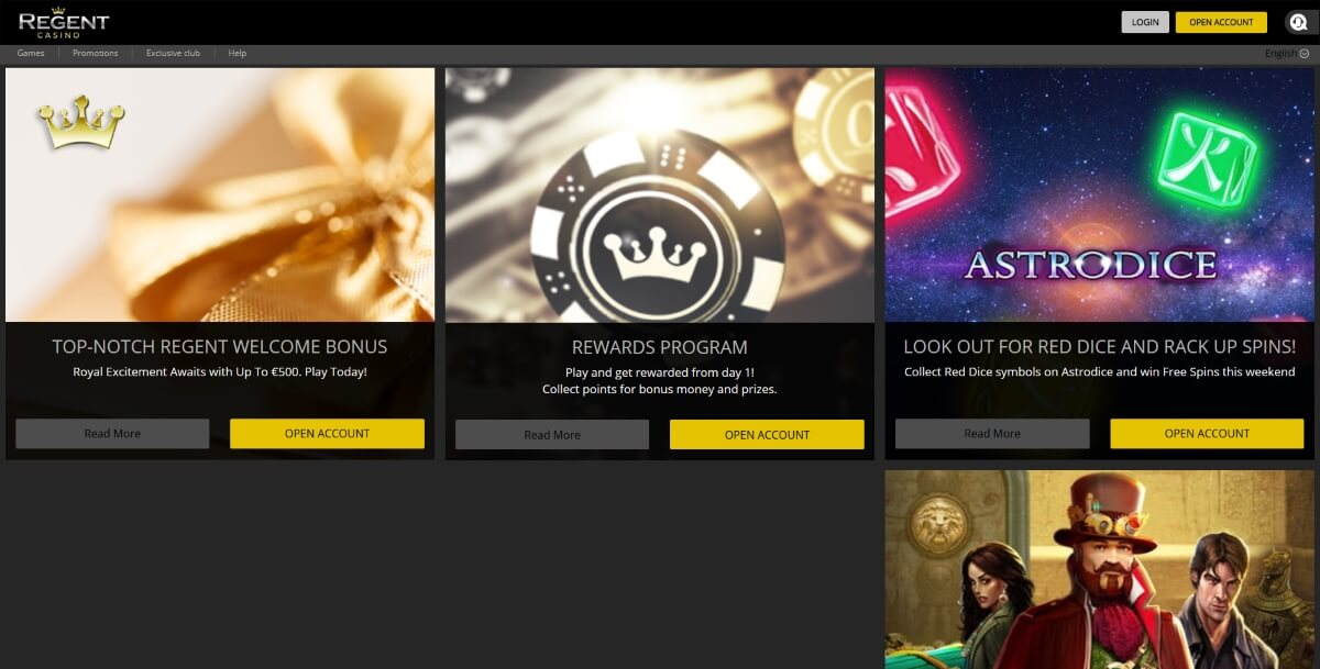 Regent Casino Bonus Deals
