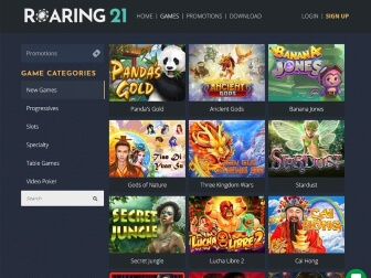 Gaming collection at Roaring21