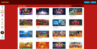 Compact collection of casino games at Ruby Slots