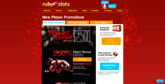 Ongoing promotional deals at Ruby Slots Casino