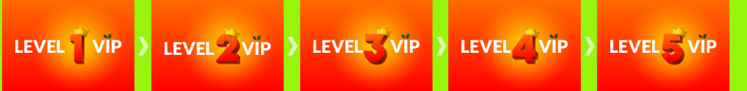 There are five levels in the Slots Garden VIP program