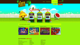 Enjoy more than 200 casino titles at Slots Garden
