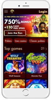 Android and iOS mobile devices are supported by Spartan Slots Casino