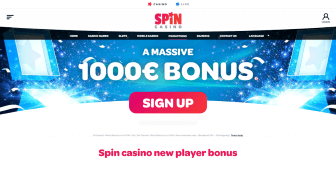 Ongoing promo offers at Spin Casino