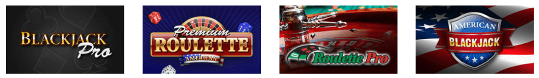 Variety of table games at Casino.com