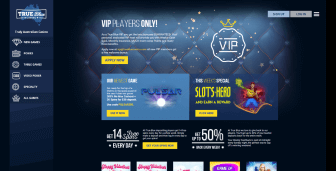 Promo offers available at True Blue Casino