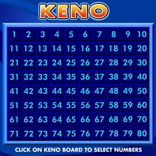 the design of one online keno game
